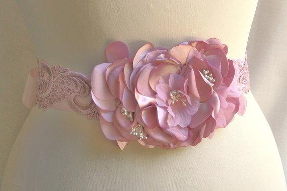 0d338b24df7a0 Bridal Sash/Belt, Wedding Belt, Satin Ribbon Bridal Sash, Pearl, Floral